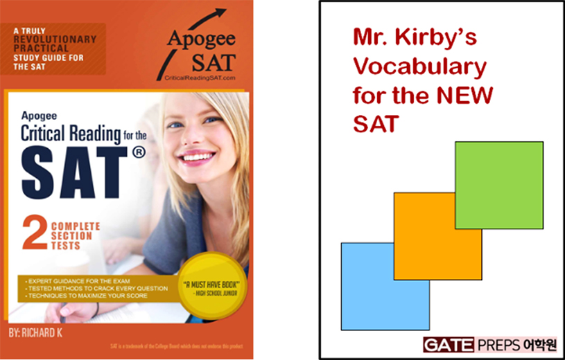 Apogee SAT, Mr. Kirby's Vocabulary for the NEW SAT, GATE PREPS 어학원